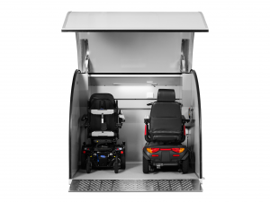 Speciellt utvecklat för förvaring av scooter och elrullstol